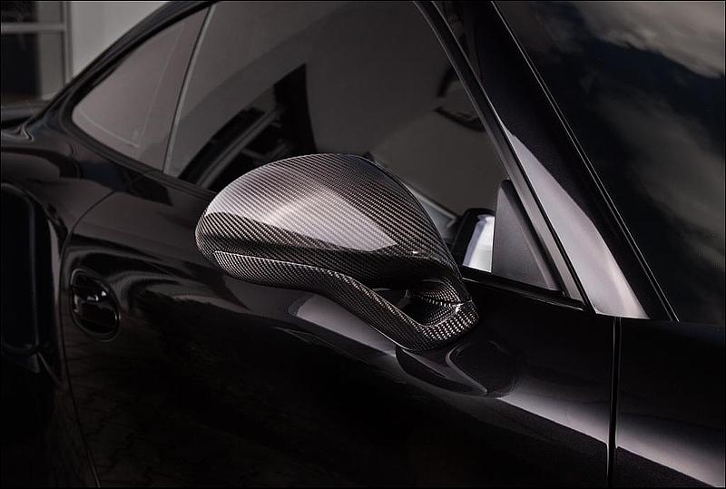 TECHART Gloss Carbon Fiber Sport Design Side Mirror Kit Porsche 991 Turbo 14-16