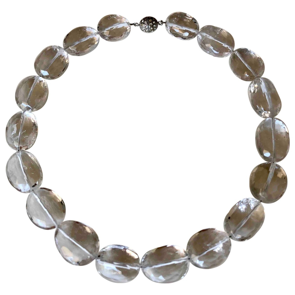 Non Signé / Unsigned \N Silver Crystal necklace for Women \N