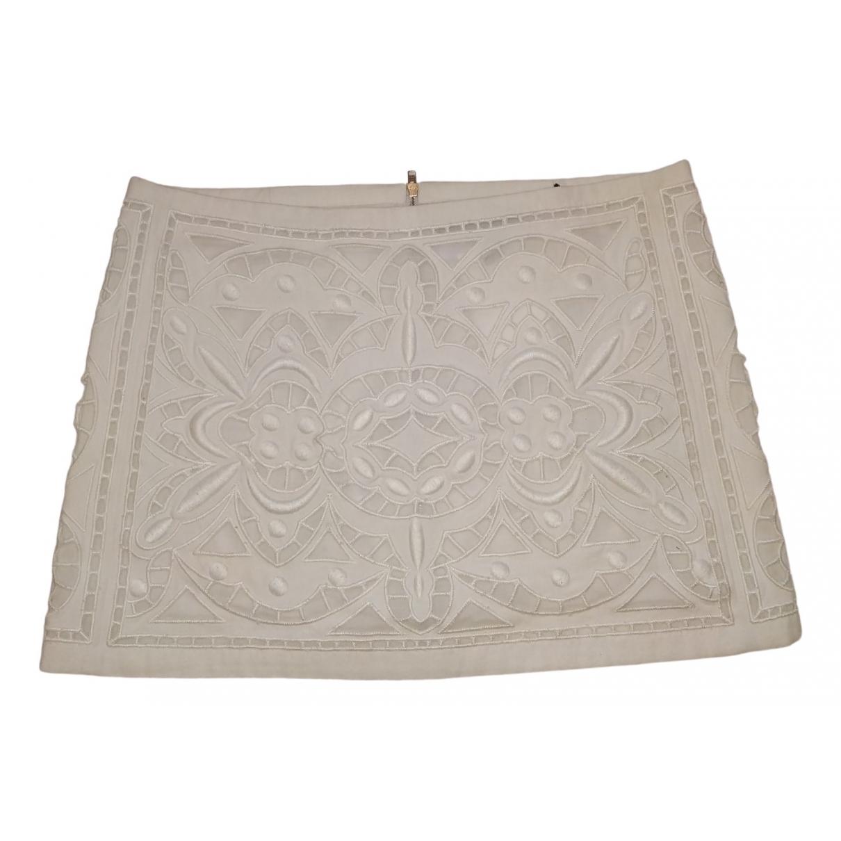 Isabel Marant \N White Cotton - elasthane skirt for Women 40 FR