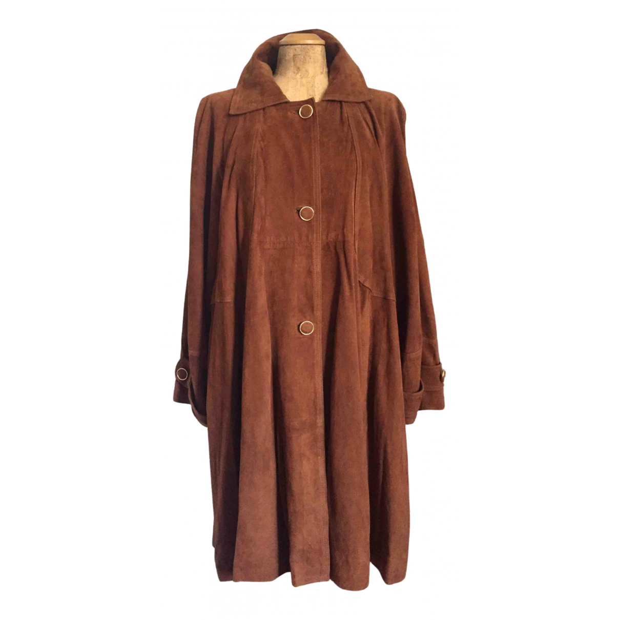 Non Signé / Unsigned \N Suede coat for Women L International