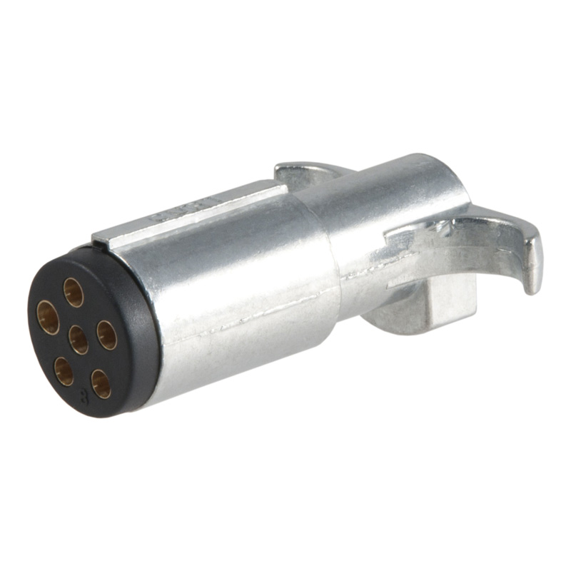 Curt 58081 6-Way Round Connector Plug (Trailer Side, Packaged)