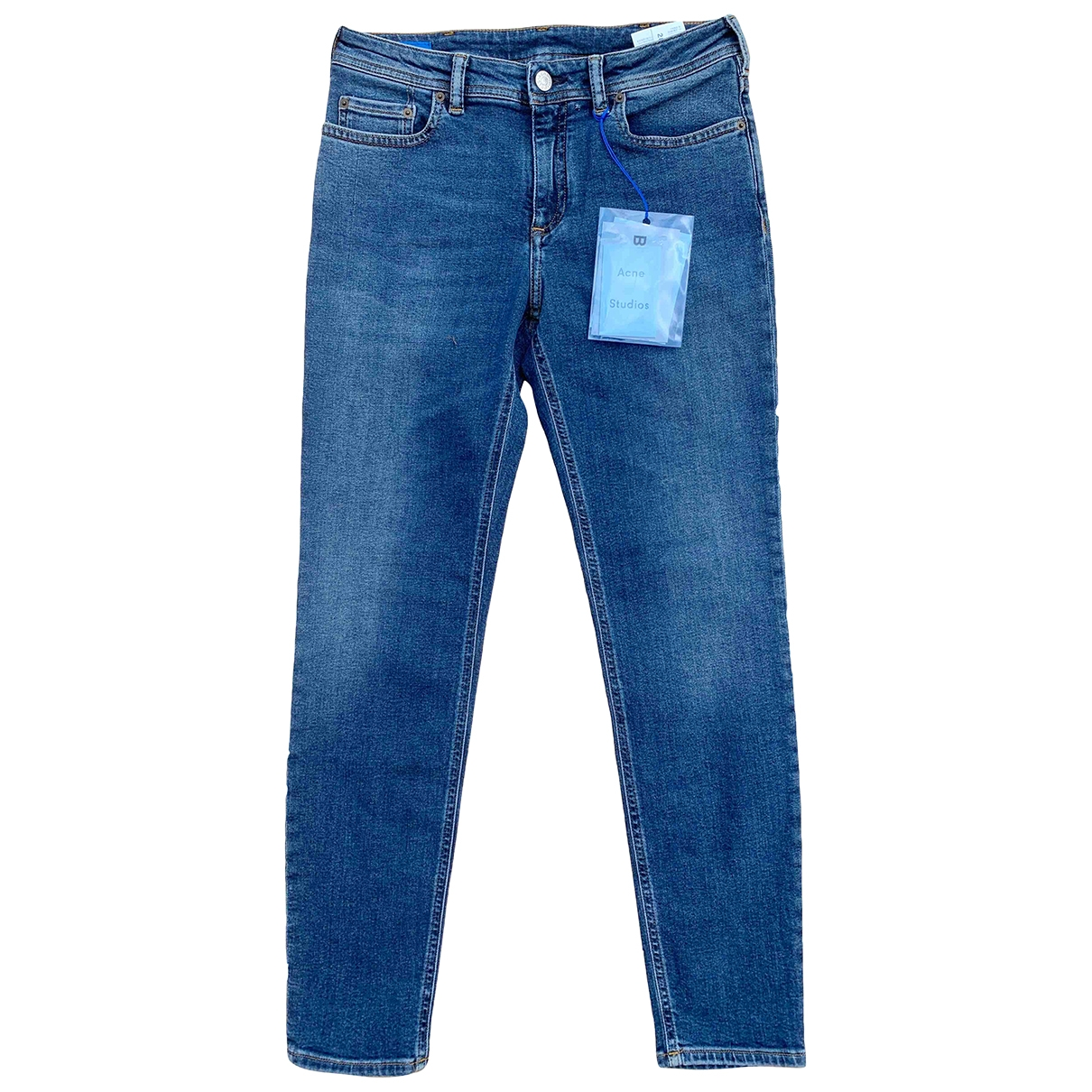 Acne Studios Bl Konst Blue Cotton - elasthane Jeans for Women 28 US