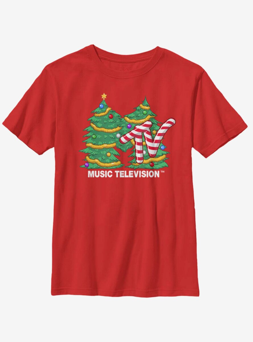 MTV Christmas Tree Logo Youth T-Shirt