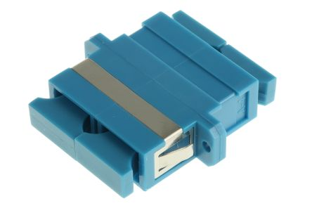 RS PRO SC to SC Single Mode Duplex Fibre Optic Adapter, 0.1dB Insertion Loss, Blue