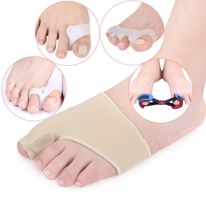 5 Pieces/Set Hallux Valgus Correction Set Toe Separation Correction Pad Toe Cover Foot Care