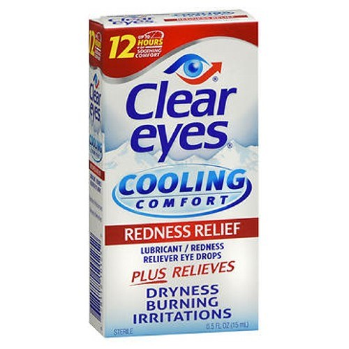 Clear Eyes Cooling Comfort Redness Relief Eye Drops 0.5 oz by Med Tech Products