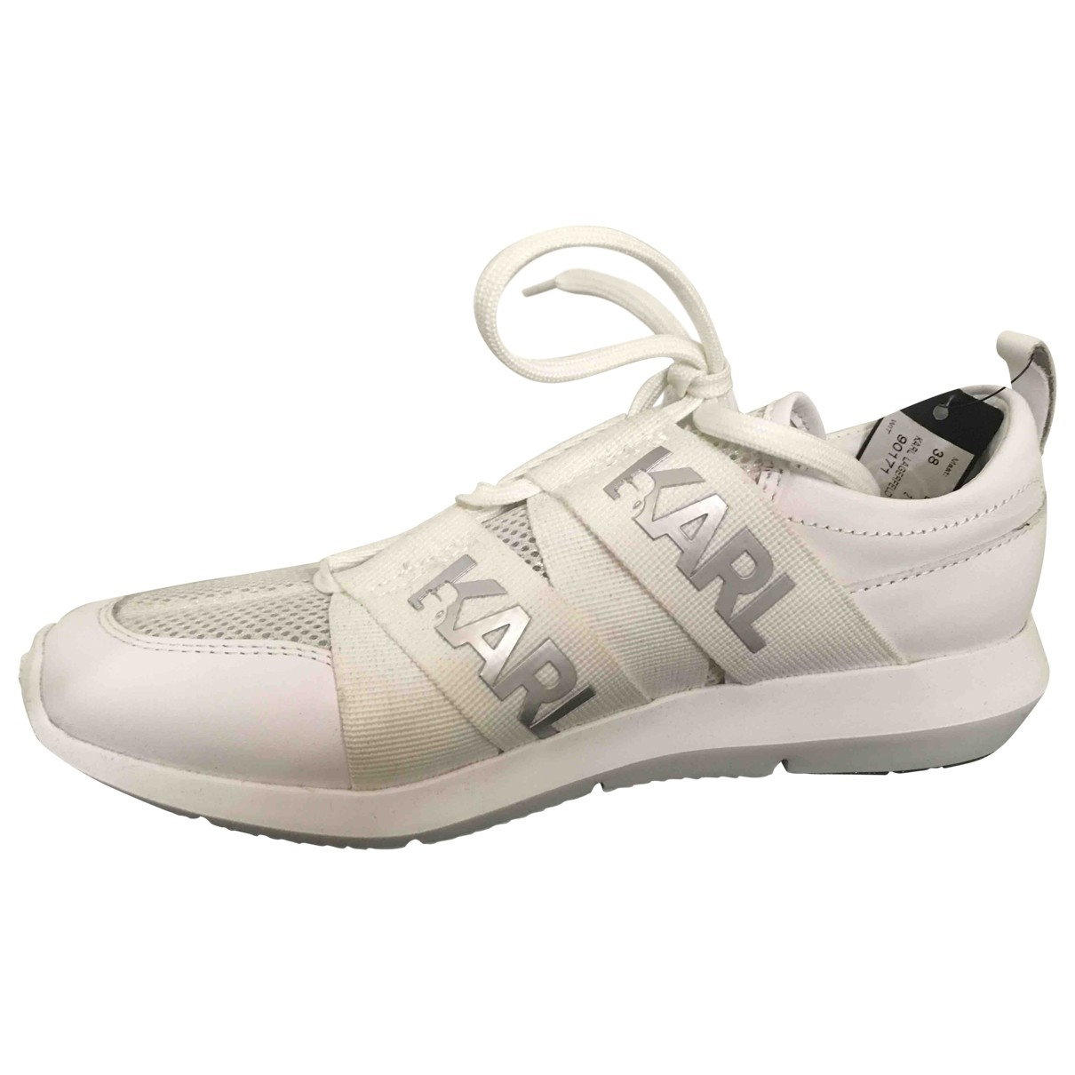 Karl \N White Leather Trainers for Women 38 EU