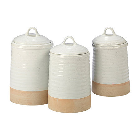 Certified International Artisan 3-pc. Canister, One Size , Beige
