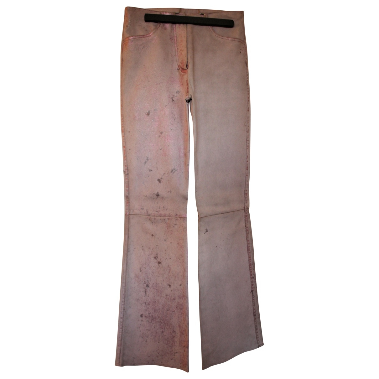Jitrois \N Pink Leather Trousers for Women 38 FR