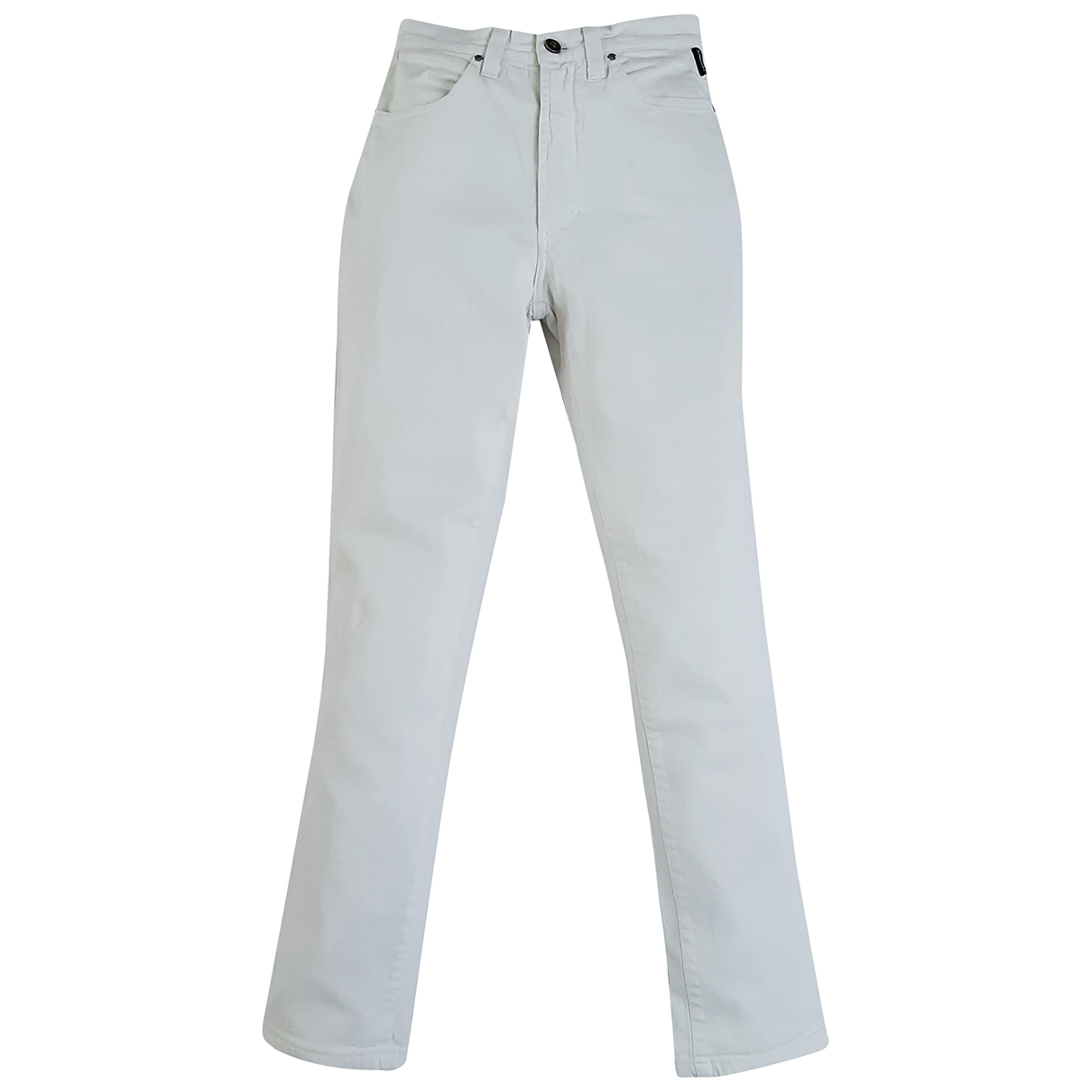 Versace Jeans \N White Cotton Trousers for Women 42 IT