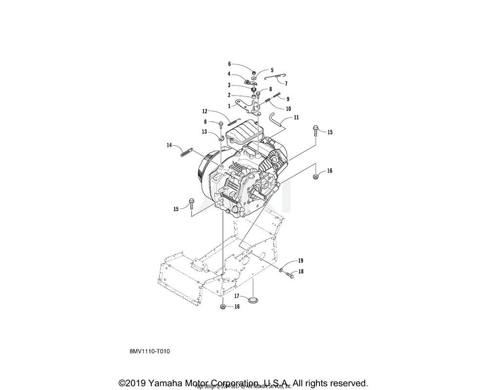Yamaha OEM 8JM-RA400-00-00 WASHER, PLAIN 1/4