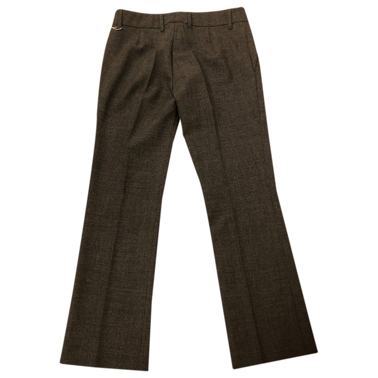 Gucci \N Anthracite Trousers for Women 38 IT