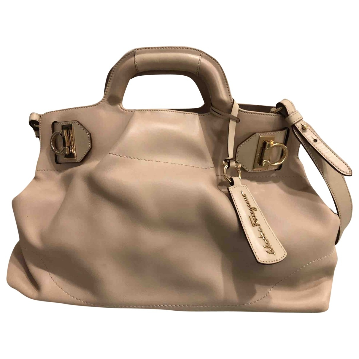 Salvatore Ferragamo \N Ecru Leather handbag for Women \N