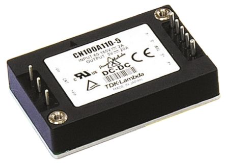 TDK-Lambda CN-A 100.8W Isolated DC-DC Converter Through Hole, Voltage in 14.4 → 36 V dc, Voltage out 12V dc