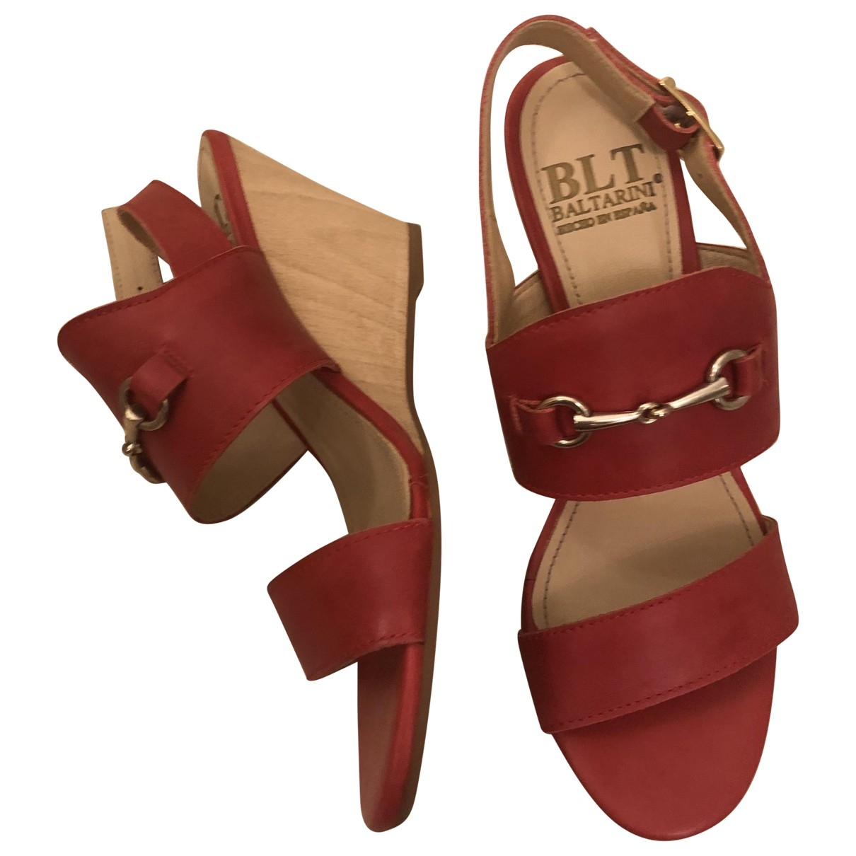 Non Signé / Unsigned \N Red Leather Sandals for Women 39 EU