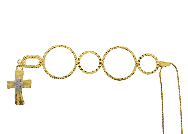 Karen Cross, Neckglasses Pendant, Reading Glasses, Convenient, Superior Chain, Discreet, Easy Care - 2.5 - Gold