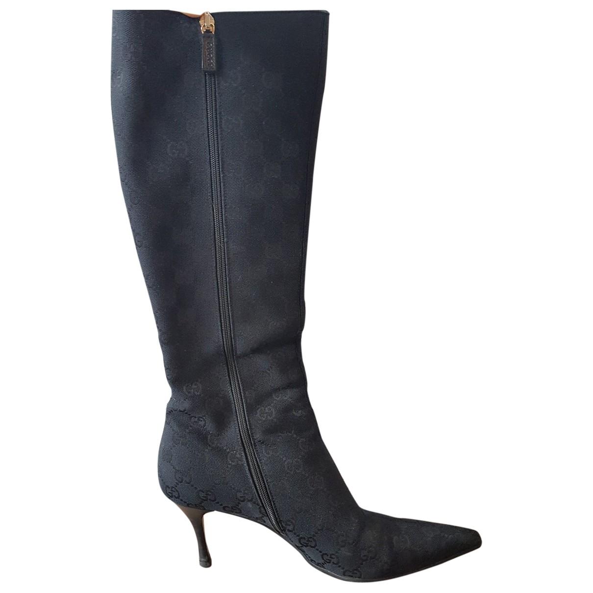 Gucci \N Black Cloth Boots for Women 38 EU