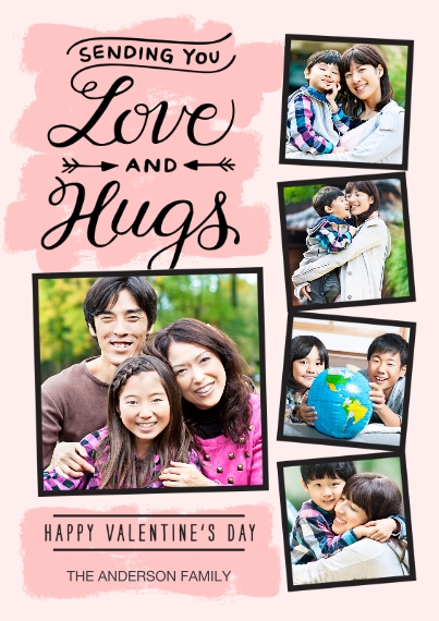 Valentine's Cards Flat Matte Photo Paper Cards with Envelopes, 5x7, Card & Stationery -Valentine Love and Hugs