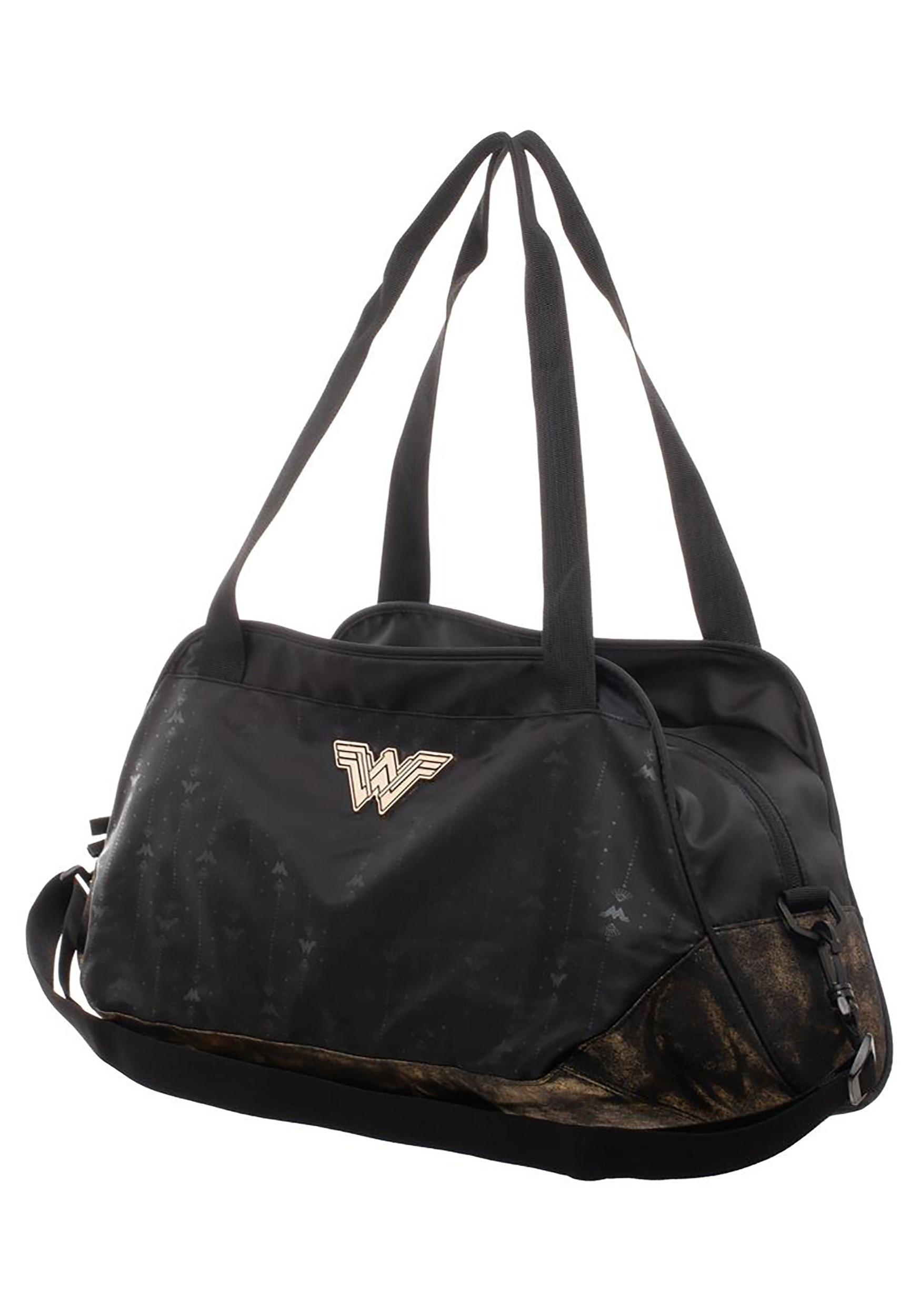 Wonder Woman Black Athletic Duffle Bag