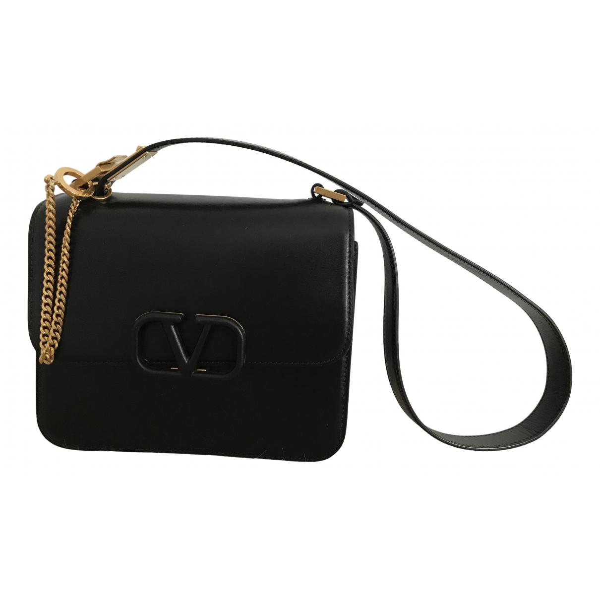 Valentino Garavani Vsling Black Leather handbag for Women \N