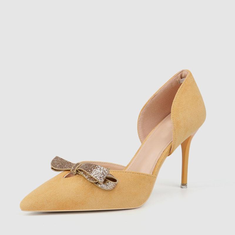 Ericdress Sequin Pointed Toe Slip-On Women's Pumps