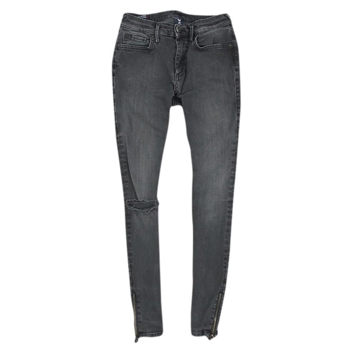 True Religion \N Black Cotton - elasthane Jeans for Women 25 US