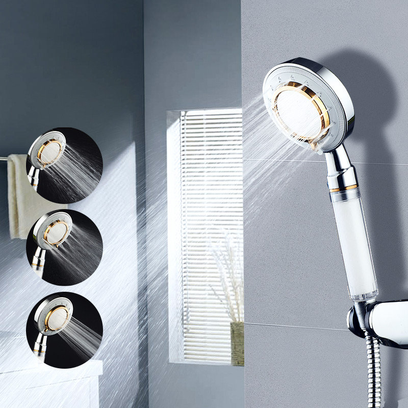 Minleaf ML-SH5 Removable Mirror Shower Head Multi-Function Filter Massage Negative Ion Shower Head