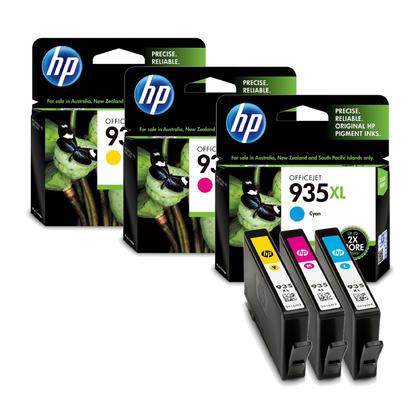 HP 935XL Original Color Ink Cartridge Combo High Yield C/M/Y