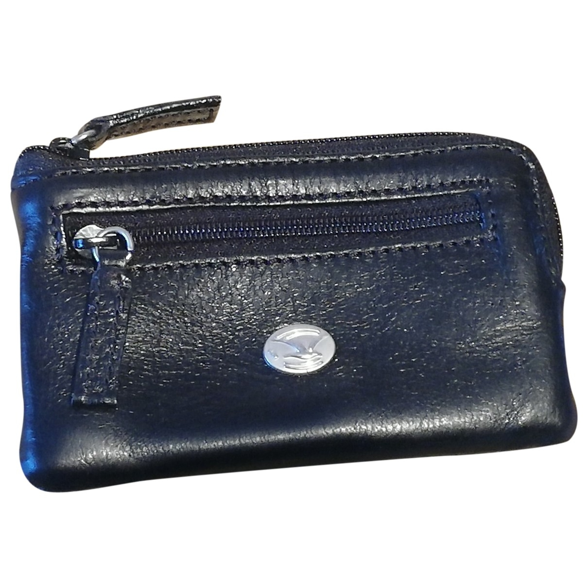 Non Signé / Unsigned \N Black Leather Small bag, wallet & cases for Men \N