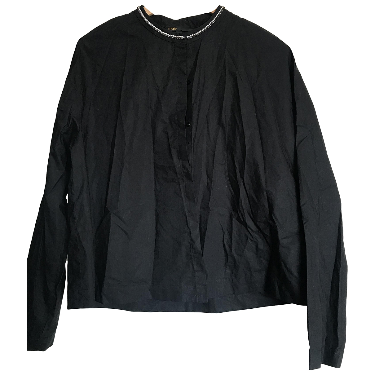 Maje \N Black Cotton  top for Women 40 FR