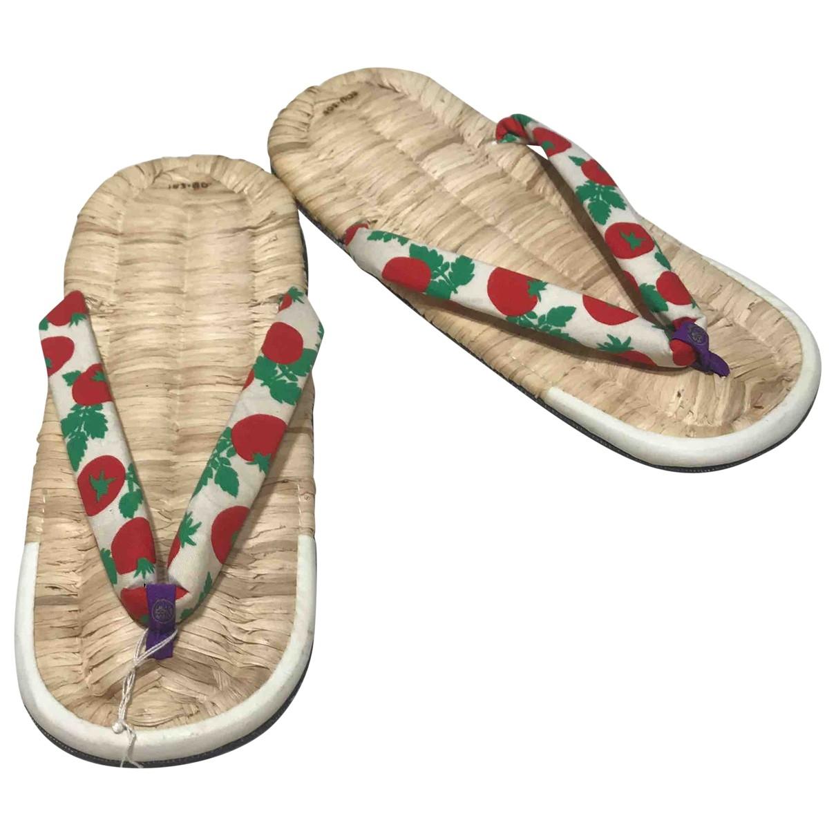 Non Signé / Unsigned \N Beige Wicker Sandals for Women 37 EU