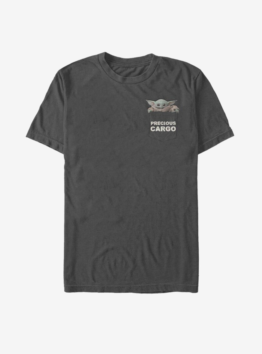 Star Wars The Mandalorian The Child Precious Cargo Faux Pocket T-Shirt