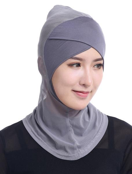 Milanoo Muslim Hijab Headscarf Cap Women Modal Islamic Full Cover Inner Hat