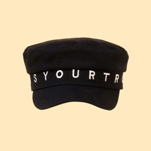 Letter Embroidery Baker Boy Cap