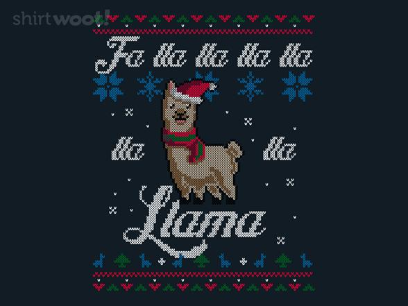 Merry Llamas T Shirt