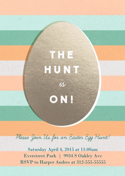Easter Cards 5x7 Cards, Premium Cardstock 120lb with Elegant Corners, Card & Stationery -The Hunt is On