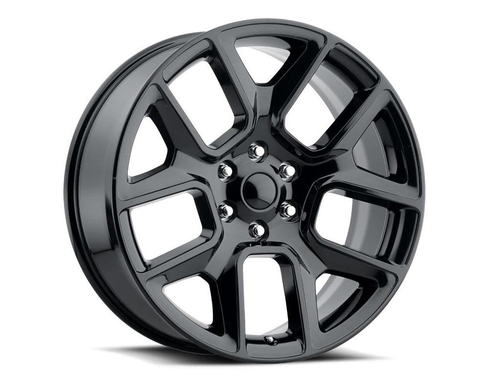 Factory Reproduction Series 76 Wheels 24x10 5x5.5 +25 HB 77.8 19 Ram 1500 Gloss Black w/Cap