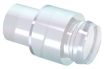 Mentor GmbH 1265.2002 MENTOR, Rear Panel Mount LED Light Pipe, Clear Flat Lens (10)