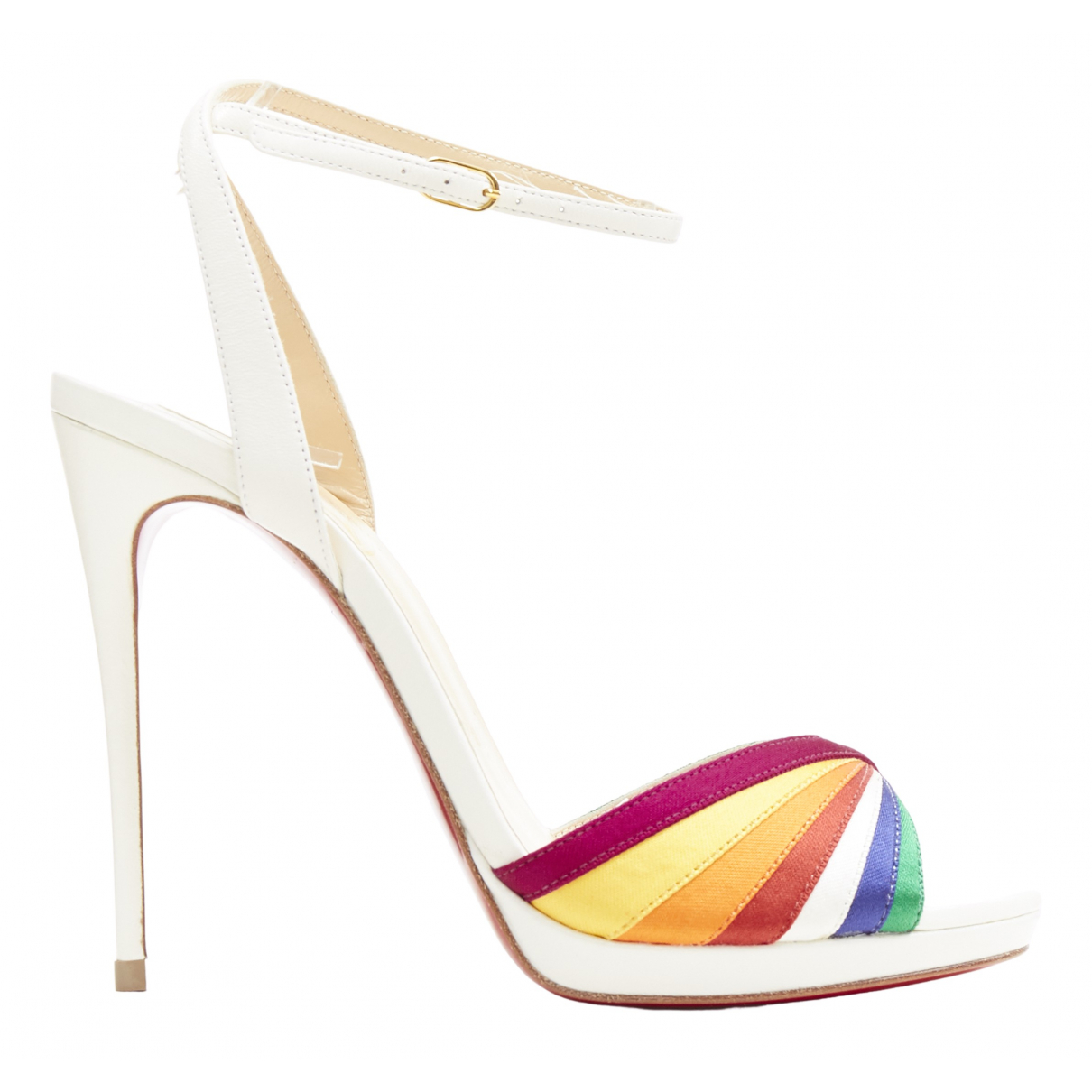 Christian Louboutin \N White Leather Sandals for Women 35.5 EU