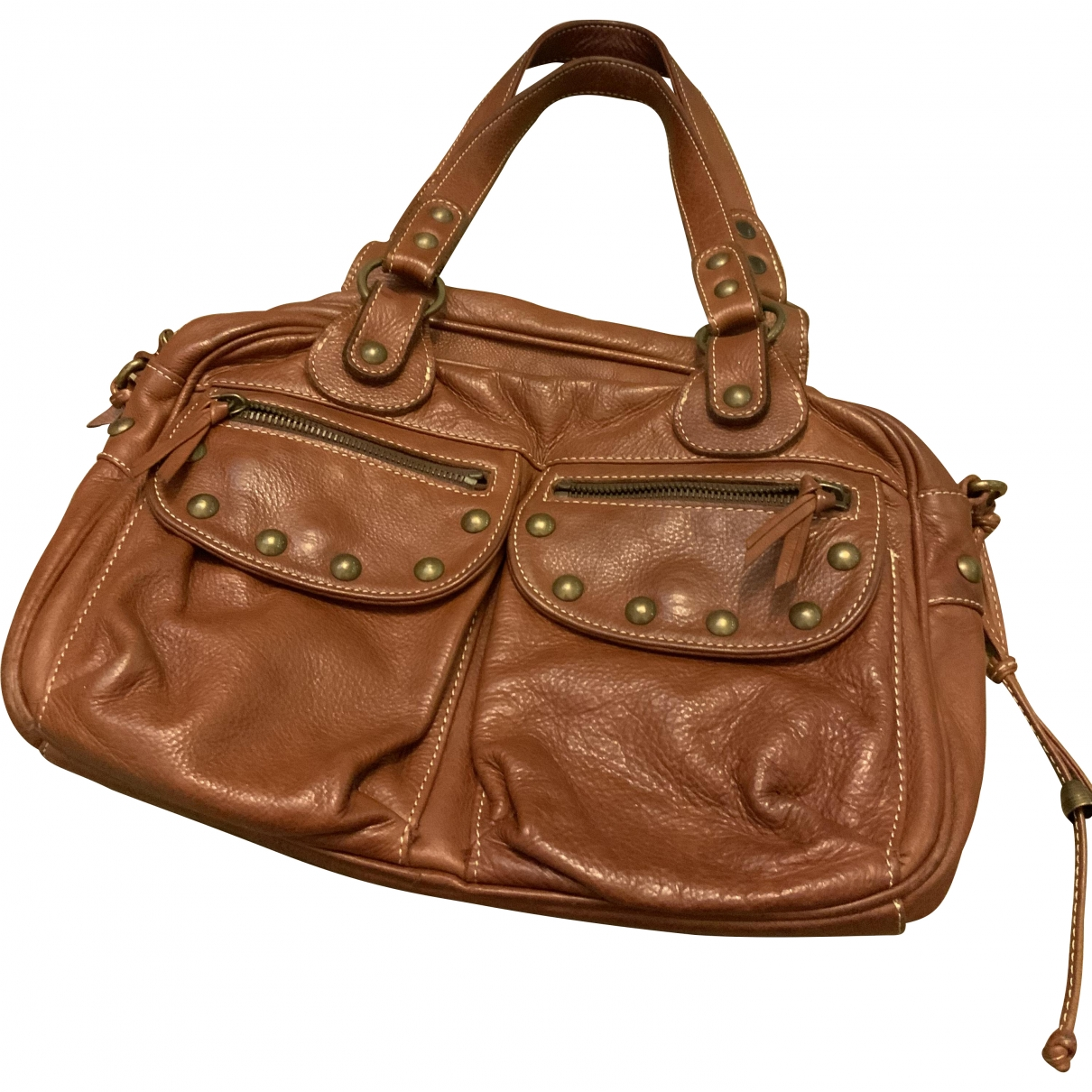 Maje \N Brown Leather handbag for Women \N