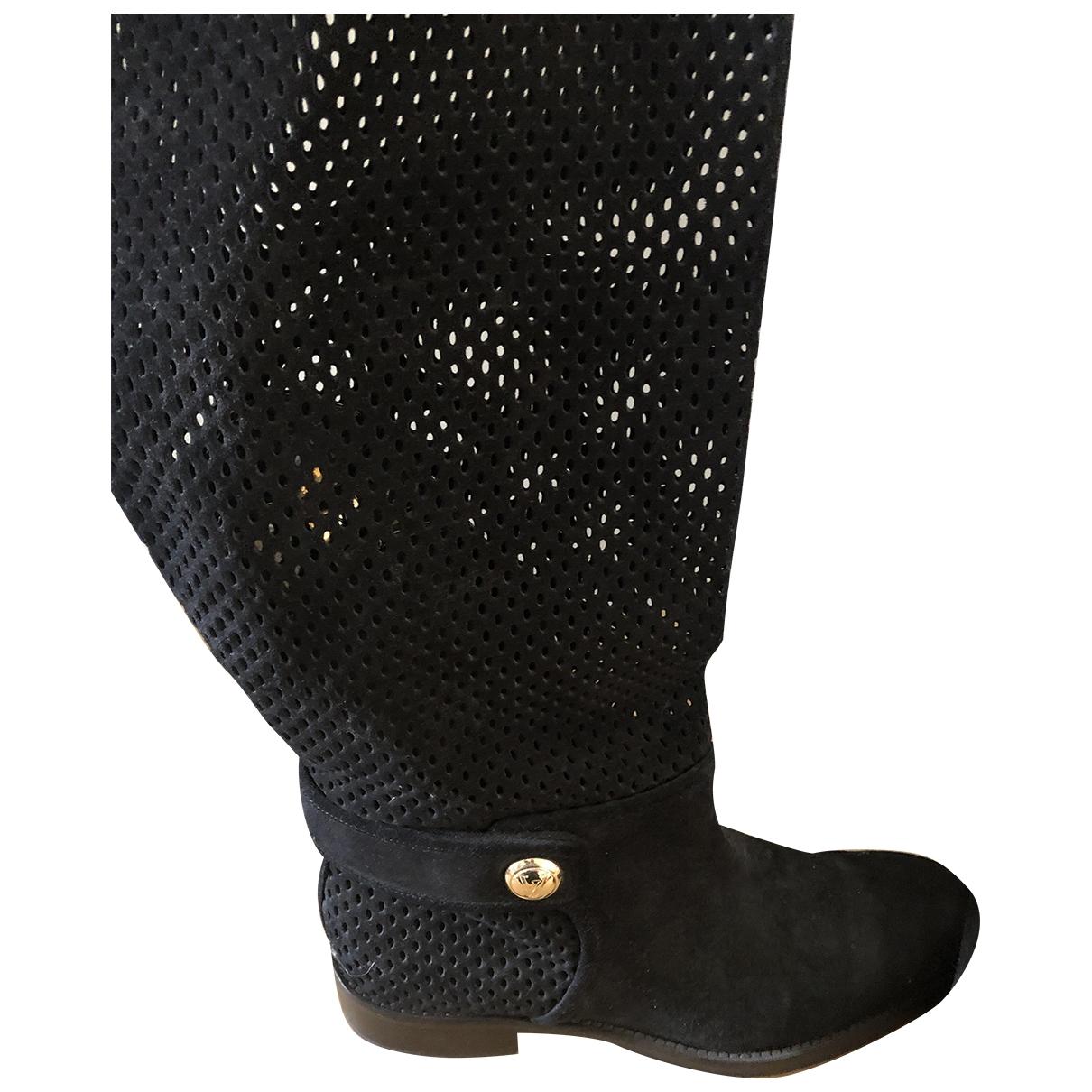 Louis Vuitton \N Black Suede Boots for Women 39 EU