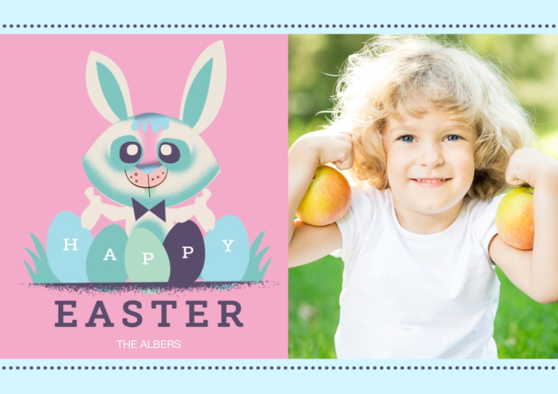 Easter Cards 5x7 Cards, Standard Cardstock 85lb, Card & Stationery -Easter Eggs