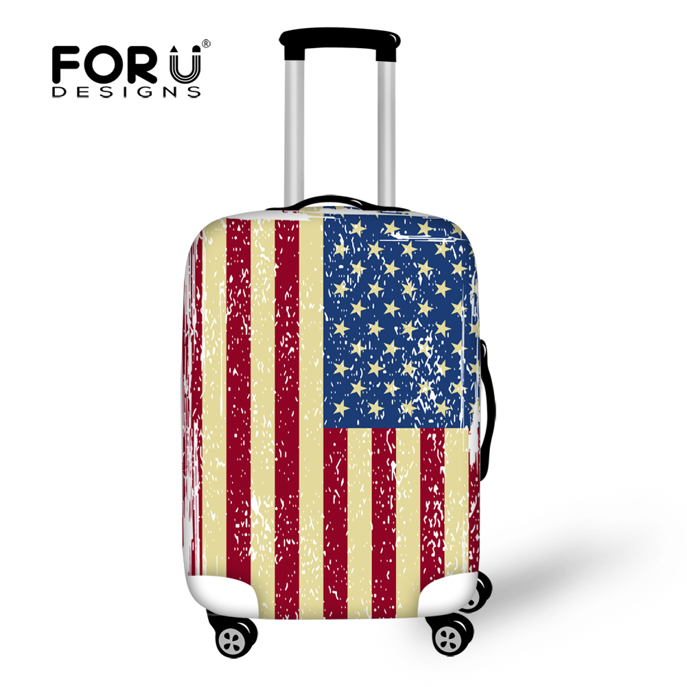 USA Flag Waterproof Stretch 18-30 Inch 3D Printed Suitcase Luggage Protector Covers
