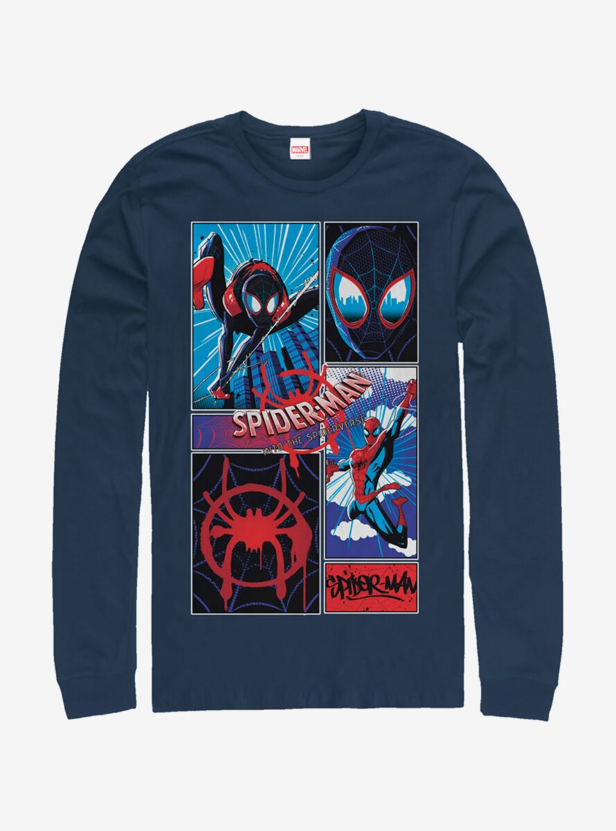 Marvel Spider-Man Comic Spiders Long-Sleeve T-Shirt