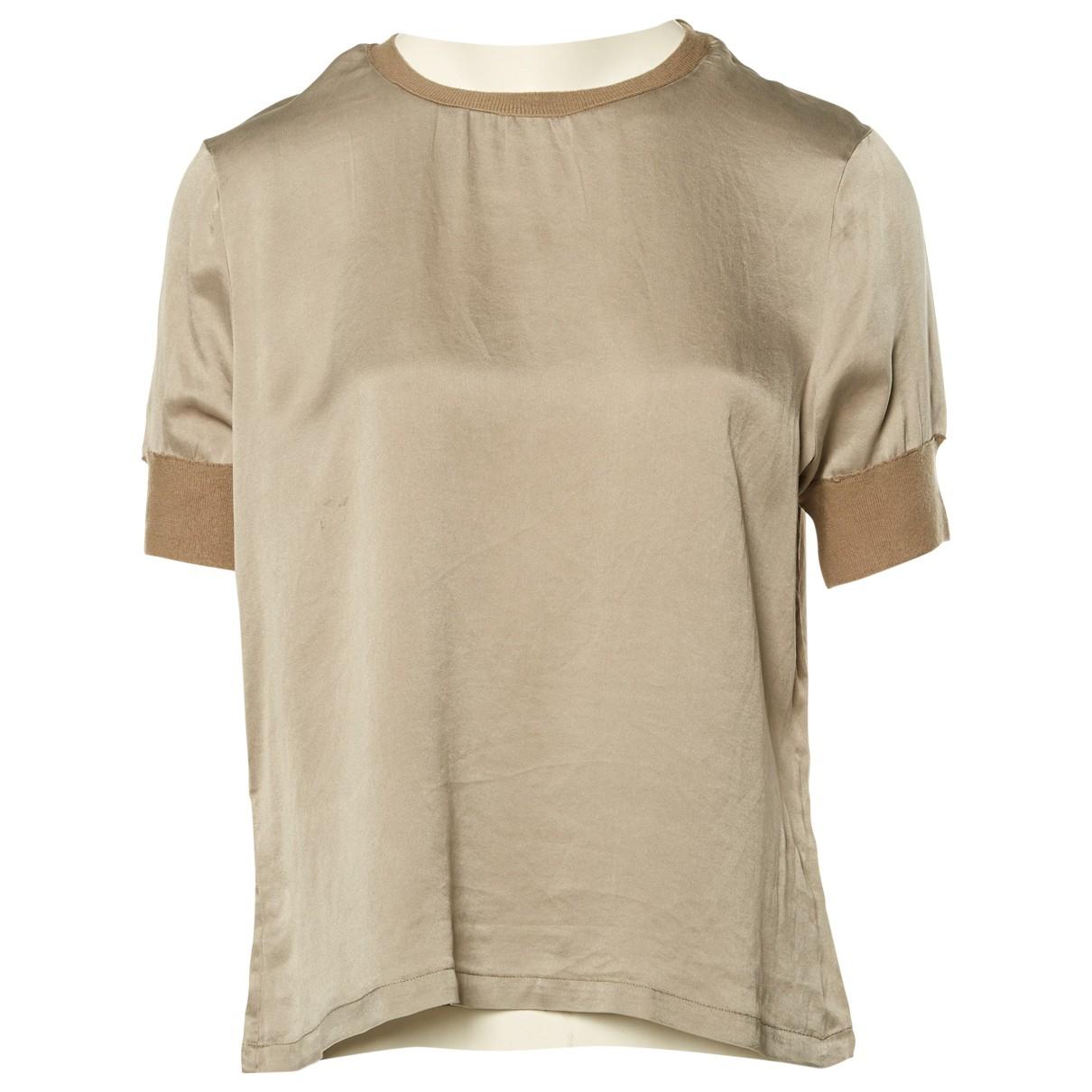 Yves Saint Laurent \N Grey Silk  top for Women 42 FR