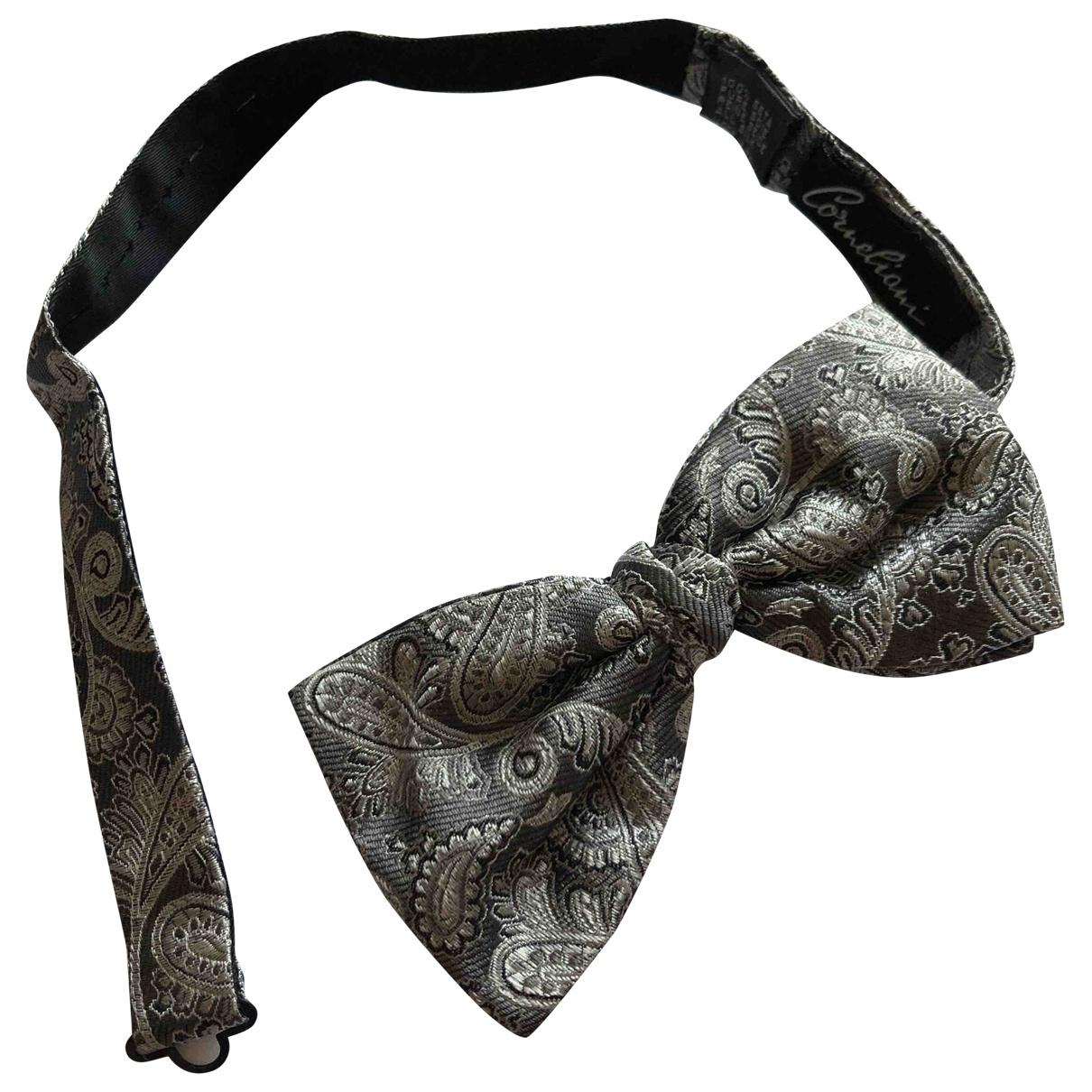 Corneliani \N Grey Silk Ties for Men \N