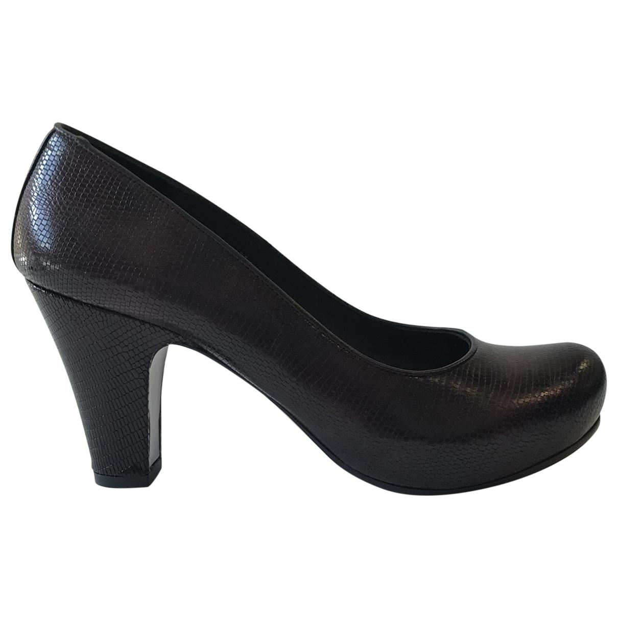 Chie Mihara \N Burgundy Leather Heels for Women 37.5 EU
