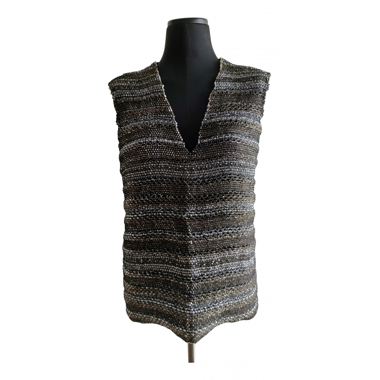 Costume National \N Gold Glitter  top for Women 42 IT