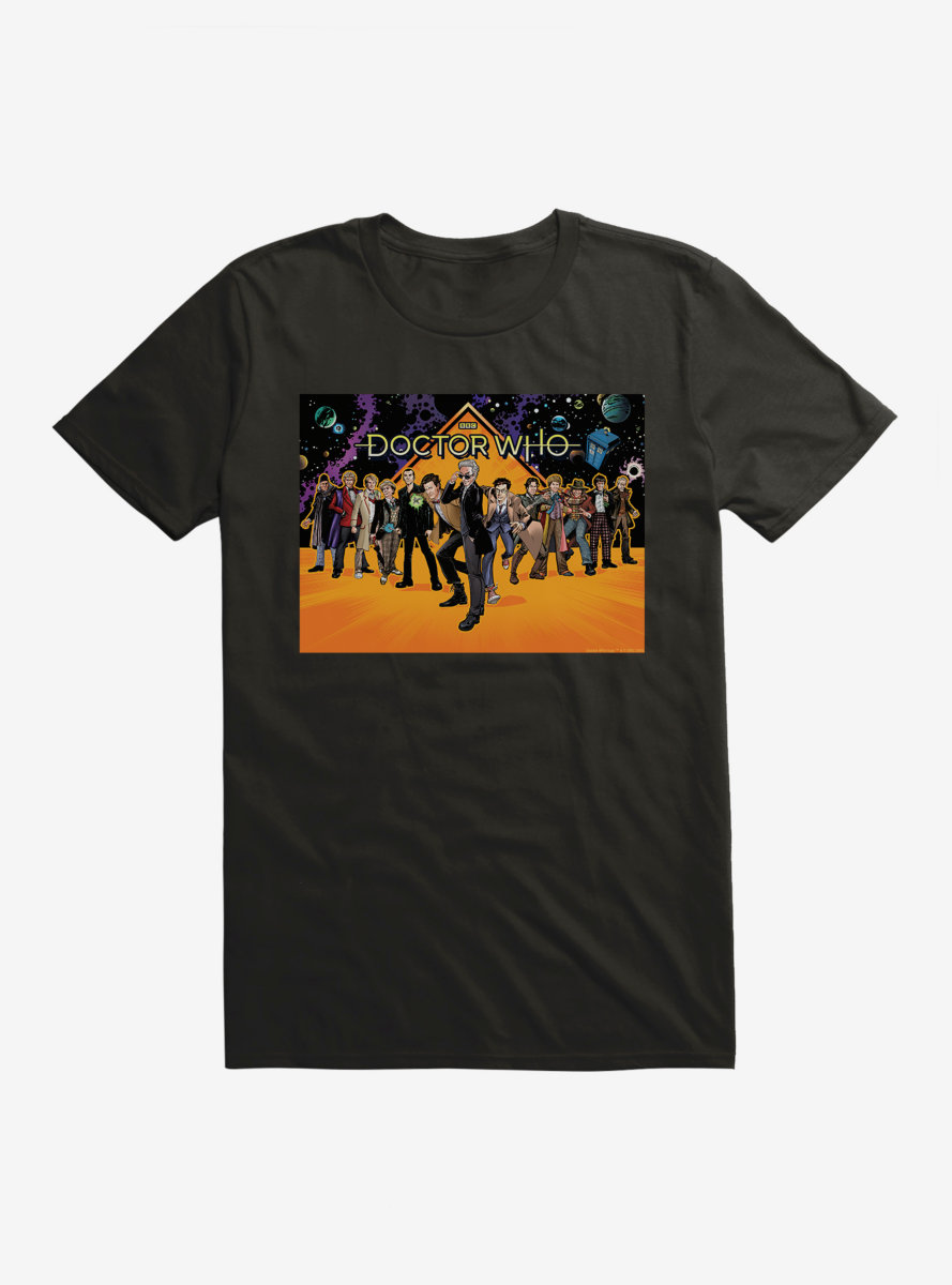 Doctor Who Twelfth Doctor Line Up T-Shirt