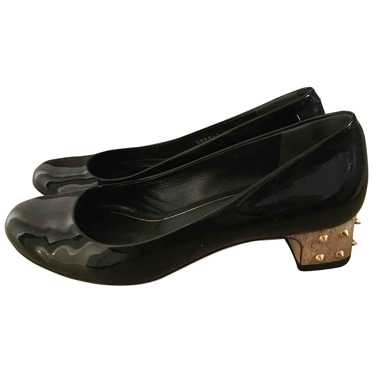 Gucci \N Black Patent leather Ballet flats for Women 36.5 EU